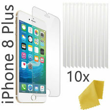 10 x Clear Plastic Screen Guard LCD Protector Film Layer - Apple Iphone 8 Plus