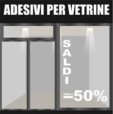 vetrofanie vetrofania vetrine wall stickers saldi fuori tutto prezzi sales a0583