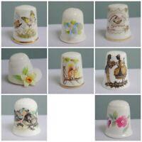 Vintage Thimble Porcelain Bone China Collectors Boxed Coalport Royal Worcester