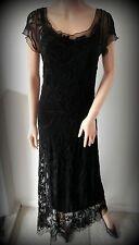 Stunning UK size 14 PHASE EIGHT Nylon/Elastane black floral net maxi dress.