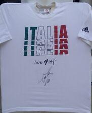 ALESSANDRO DEL PIERO SIGNED ITALY ITALIA EURO WORLD CUP ADIDAS SHIRT+PROOF AUTO