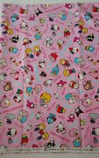 Sanrio Characters 100%Cotton Fabric (Oxford) FQ Fat Quarter Ships from CA, USA