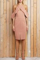 New With Tags Adelyn Rae Alessandra  Knit Ponte Cold Shoulder Dress