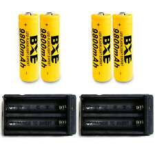 4PCS BXE 18650 9800mAh Li-ion 3.7V Rechargeable Batteries + 2 Dual Chargers New