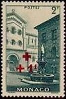"MONACO STAMP TIMBRE YVERT N° 209 "" CROIX ROUGE  +1F SUR 2F ""  NEUF xx LUXE"