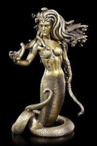 Medusa Figur - Stehend mit Bogen - Göttin Mythologie griechisch Schlangen Körper