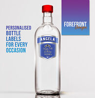 Personalised Blue Vodka bottle label, Perfect Birthday/Wedding/Graduation Gift