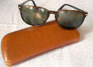 Lunettes soleil PERSOL marron écaille monture 3019-S 24/31 + étui t.b.e glasses