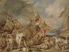 Giovanni Benedetto Castiglione ITALIANO Noah portando animali ARK stampa bb5512a