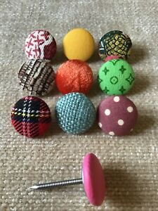 25mm Nail Back Upholstery Buttons 30L/19mm Top Covered In Your Own Fabric
