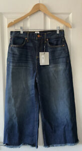 """AND OR JOHN LEWIS WESTLAKE CROPPED WIDE DENIM BLUE JEANS 28"""" WAIST NEW"""