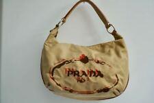 Prada Handtasche - beige mit Logoprint/Stickerei