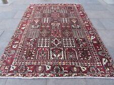 Vintage Worn Hand Made Traditional Oriental Wool Red Brown Carpet 302x210m