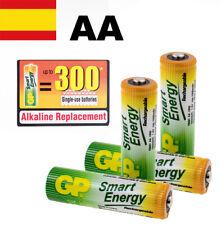 PILAS RECARGABLES AA BLISTER X 4 GP SMART ENERGY BATERIAS RECARGABLES