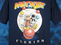 vintage 90s MICKEY MOUSE FLORIDA WALT DISNEY T-Shirt XL cartoon juggling thin