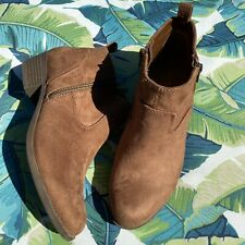 Size 8 ARIZONA Brown Faux Vegan Suede Booties Ankle Boots
