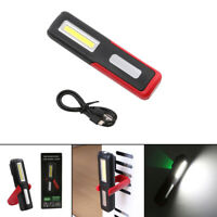 USB Charging COB LED Work Light Magnetic Folding Flashlight Camping Torch Lamp
