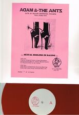 ADAM AND THE ANTS - 'SEXUAL HEELING IN EALING' LIVE TECH COLLEGE 1978 40 RED LP