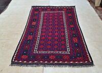 6'10 x 4' New Red Handwoven Afghan Tribal Kilim Area Rug Wool Kelim Carpet #3580