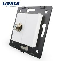 Einsatz Sat Livolo  Socket VL-C7-1ST-11 weiß