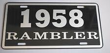METAL LICENSE PLATE 1958 58 RAMBLER NASH AMC AMERICAN MOTORS 660 440