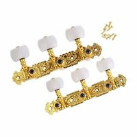 6 x Deluxe Classical Guitar Machine Heads Acoustic Gold & Pearl Tuning Keys