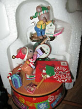 Enesco Action Musical Wishes A-Weigh Mint in box I'll Be Home for Christmas tune