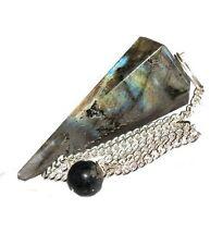 Gemstone Crystal Labradorite Pendulum Divination, Dowsing, Scrying