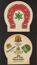 Seltener alter BD , Bierdeckel ,Coaster  , Pfungstädter Brauerei , Hessen