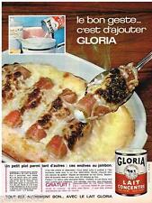 PUBLICITE ADVERTISING 095  1964  le lait concentré GLORIA endives au jambon