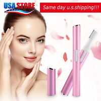 Women Electric Facial Hair Eyebrow Trimmer Razor Blade Shaver Remover Pink US