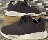 Adidas NMD R1 Mens Urban Trail Chalk Brown White Running Shoes Size 10 AC7064