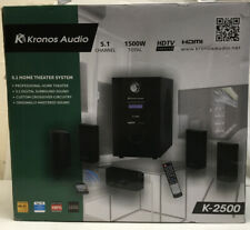 Kronos Audio 5.1 Home Theater System 1,500 Watts K-2500 Brand new In Box
