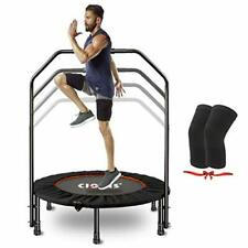 """CLORIS 40"""" Foldable Mini Trampoline for Adults Rebounder Trampoline with Bar ..."""