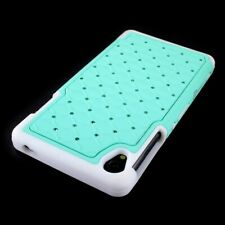 For Sony Xperia Z3 Case Hybrid Diamond Bling Hard Protective Phone Cover - Teal
