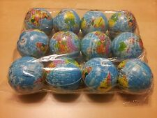 New 12 pcs World Map Earth Globe Sponge Bouncy Ball Geography Size 3""