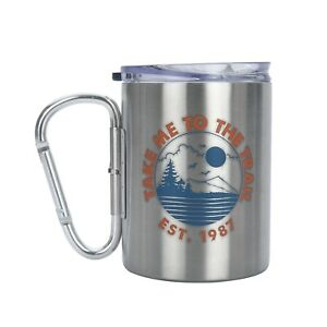 Ozark Trail Carabiner 17 oz. Stainless Steel Double Walled Mug Set W/ Lid