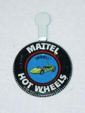 Vintage 1968 Hot Wheels Redline TWINMILL Sports Car Tin Litho BUTTON Badge (USA)