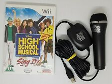 Nintendo Wii High School Musical Sing it With Microphone VGC FAST FREE POST