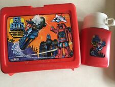 Vtg Go Bots Lunch Box with Thermos 1984 Made In Usa