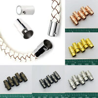 10pcs Magnetic Clasps Leather Cord Bracelet Connectors For DIY Jewelry Making