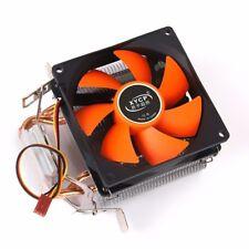 XYCP 2 x Heatpipe 130W 3 PIN CPU Cooler Fan & Heatsink for LGA 775 115X AMD 1366