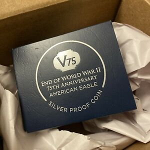 End Of World War II 75th Anniversary American Eagle Silver Proof Coin 24HR 🚚✅