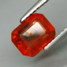 2.24 Carats 7.5x6.1mm Natural Imperial Red SAPPHIRE Emerald Cut for Setting