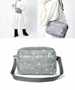 LeSportsac My Neighbor Totoro Gray Japan Exclusive DANIELLA Crossbody Bag Japan