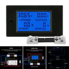 100A DC Voltmeter Energy Tester Charger Voltage Ammeter Current Power Meter
