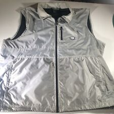 Packable Athletic Vest Nike Air Men's Size Large Gray Full Zip Up