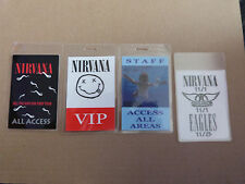 NIRVANA Collection of FOUR Laminated Backstage Tour Passes (x4)