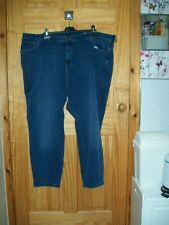 *** NEW M&S BLUE SUPPER SKINNY JEANS SIZE 32 LONG***