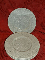 """Mikasa Ultrastone CU726 Grey 8.25"""" BREAD Plates Set Of 4. MINT! MORE AVAILABLE"""